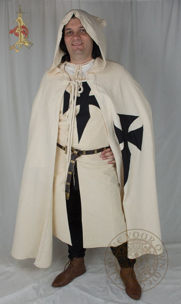 Teutonic Knights Crusader Full Cloak with Hood