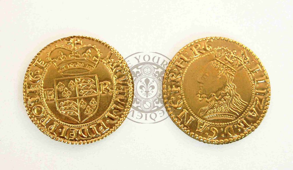 1592 - 1595 Elizabeth 1/2 Crown Coin