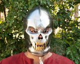 Vampire steel helmet for LARP