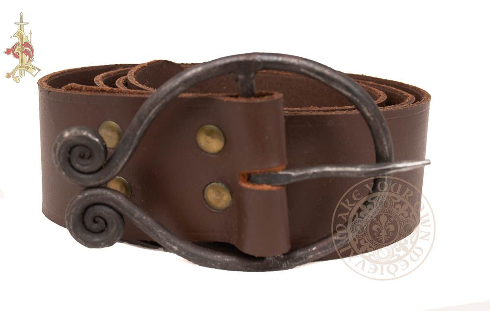 Viking Dark Ages Wide belt in Brown leather
