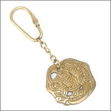 Viking Brooch Key Ring made from brass
