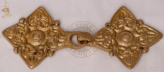 Viking Rus kaftan clasp made from brass reproduction jewellery
