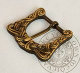 Viking belt buckle made from brass for SCA garb and clothing