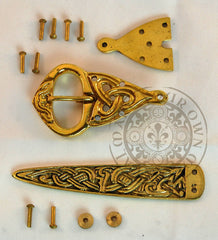Viking buckle and strap end set for making your own belt and costume