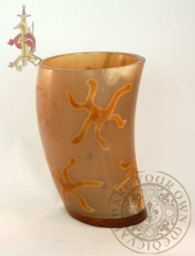 Ale Horn Drinking / Dice Cup with Star Design