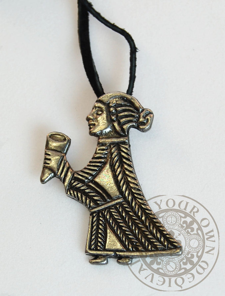 Valkyrie With Horn Viking Pendant