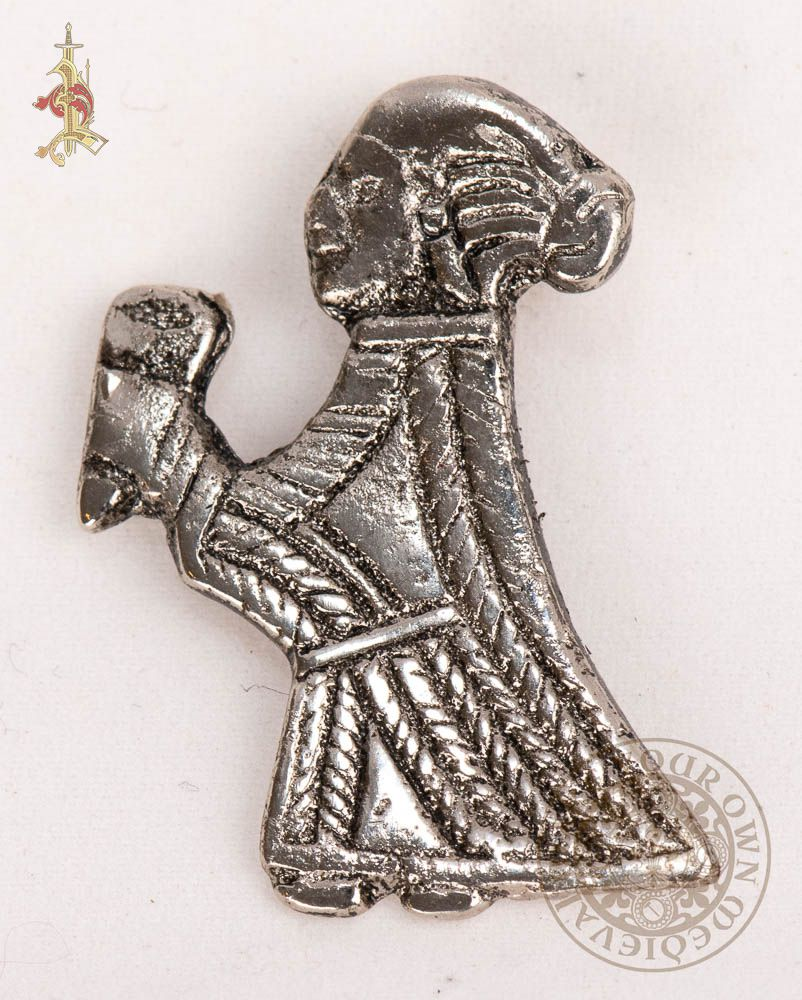 Sweden Uppland VALKYRIE Pendant with horn Silver Replica from Birka