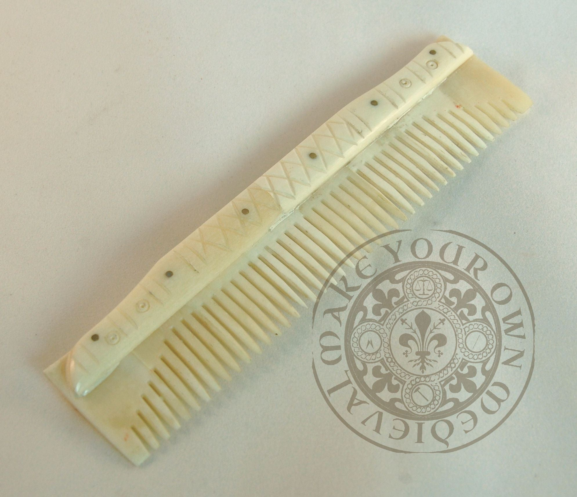 Vking Comb made from Bone Historical Costume
