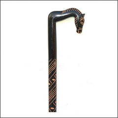 Walking Stick with Horse head Handle made from wood