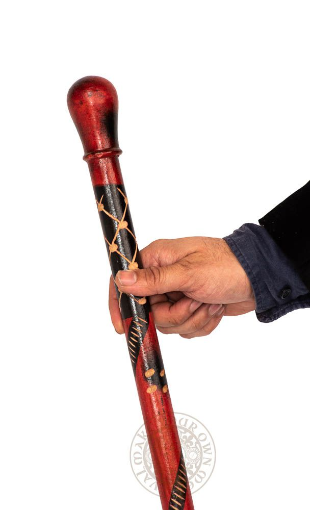 Walking stick - Red and Black