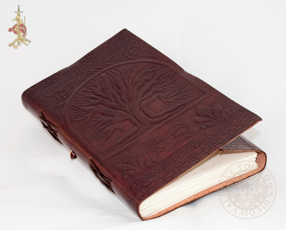 Large Tree of Life and Triquetra Leather Journal