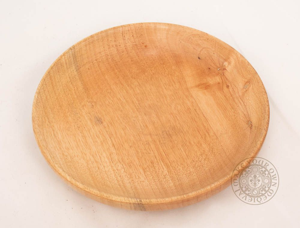 Wooden plate for medieval reeanctment and SCA feasting gear