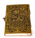 Yggdrasil Tree of Life Pagan Leather Journal with lock