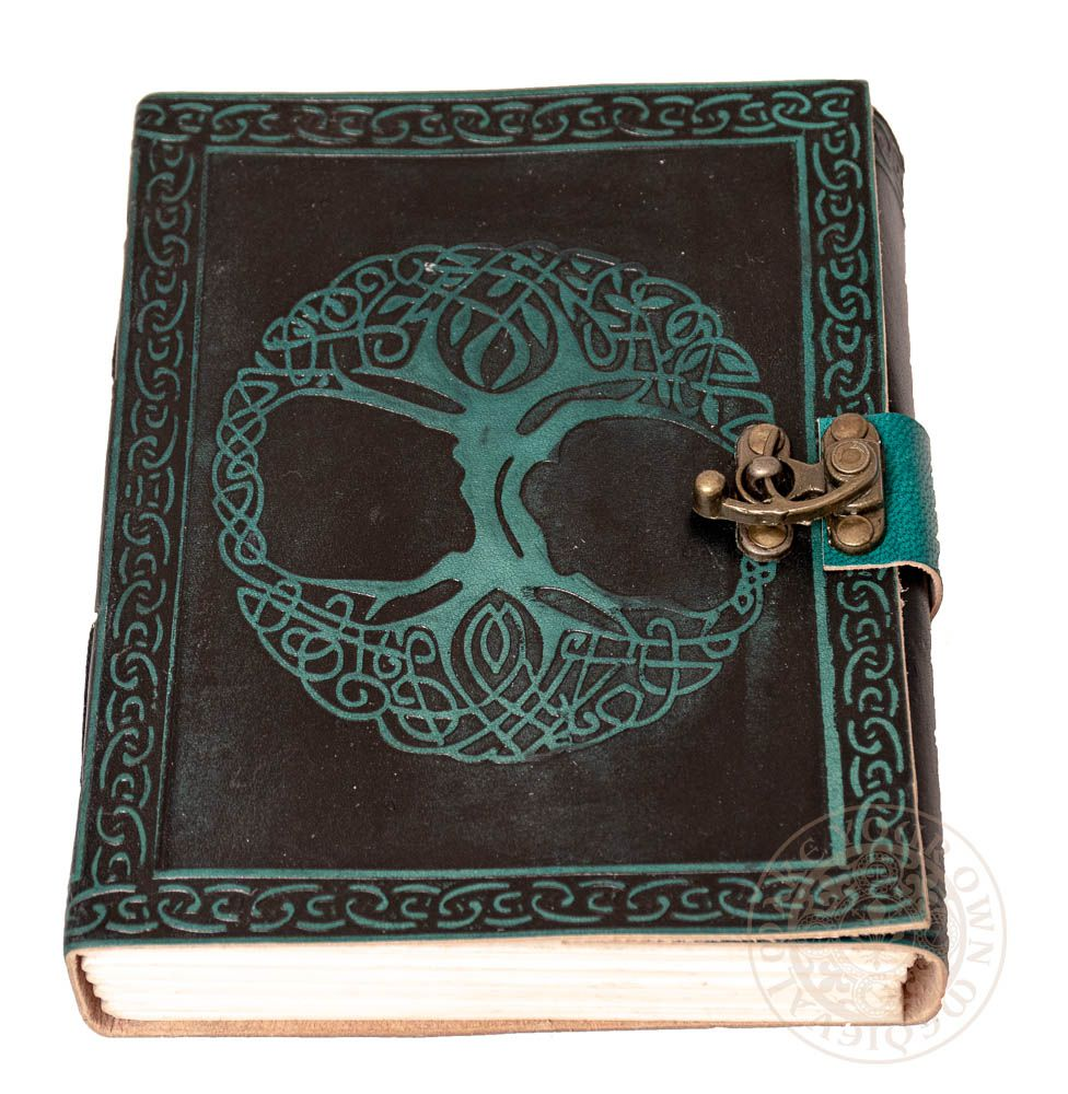 Yggdrasil Tree of Life Viking Green Leather Journal