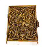 Yggdrasil Tree of Life Viking Leather Journal with clasp