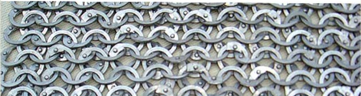aluminium flat chainmail rings with round rivets avilable loose for bulk buy