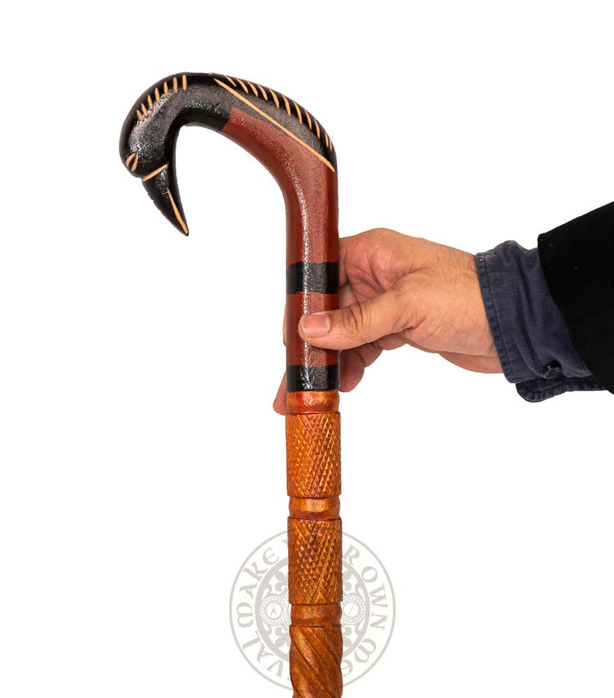 Walking stick with Bird Carved Handle