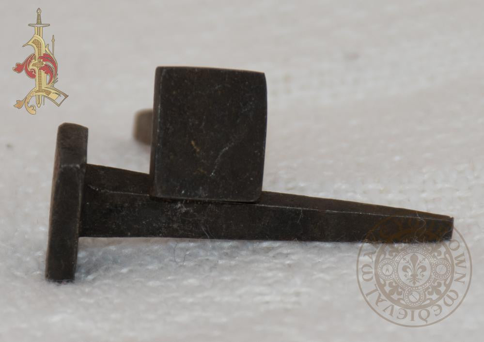 blacksmith forged Medieval nail for reenactment
