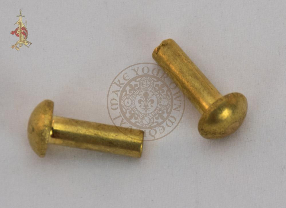 Solid Brass Rivet 17mm x 5mm - Set of 10/50/100