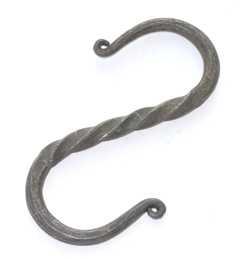 forged S hook for Medieval cooking over a fire