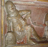 fresco 'soldiers at the Holy Sepulchre' 1340-1350, from Münster, Freiburg im Breisgau, Baden-Württemberg, Germany.