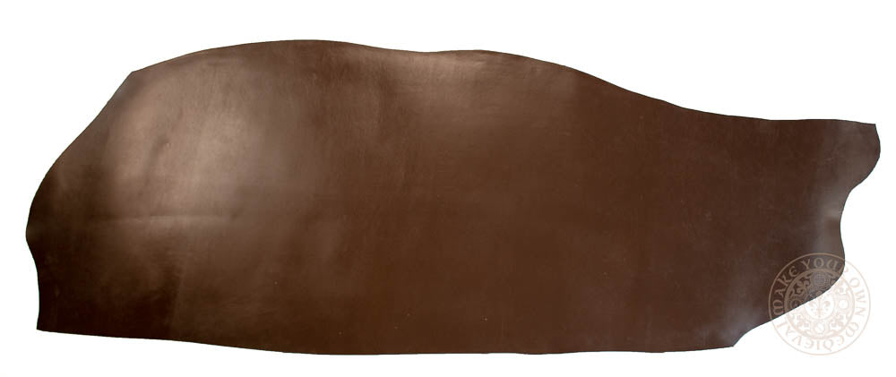 full brown leather side hide sheet