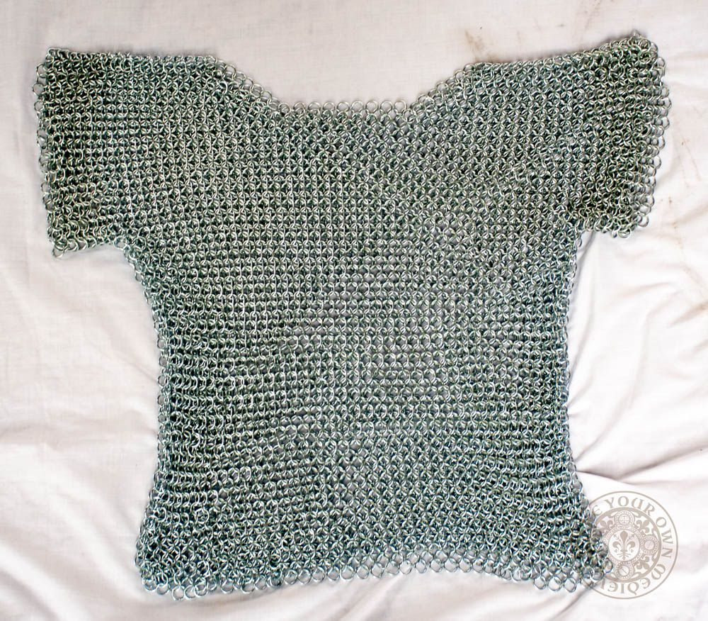 Chain Mail 1/4 Sleeve Butted Shirt - Extra Small
