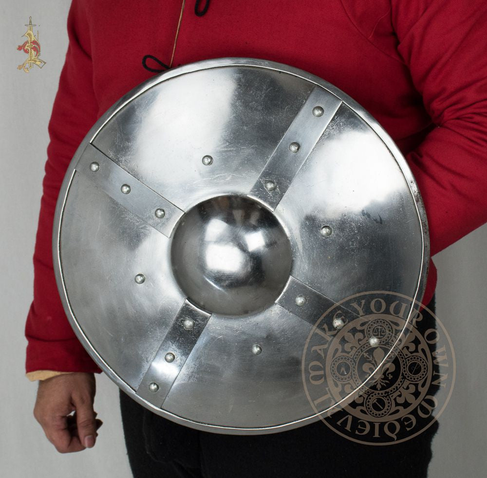 large Buckler shield medieval armour reenactment and HEMA