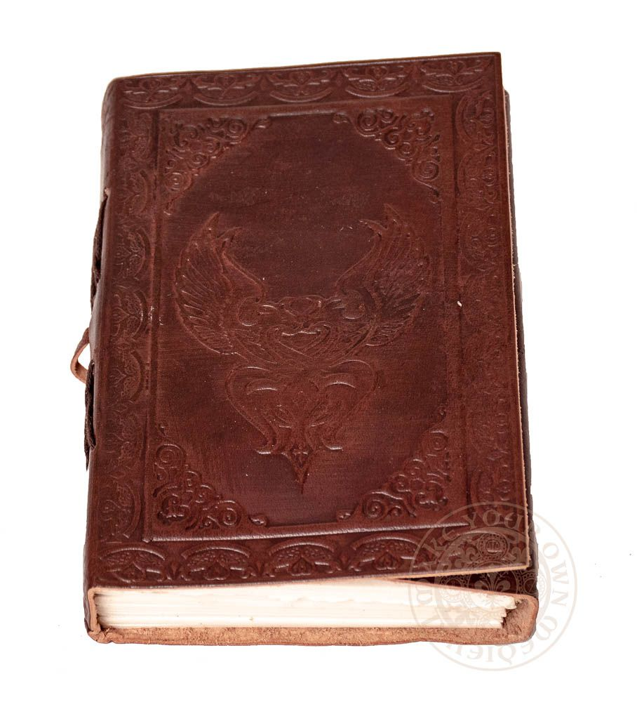 Free love winged heart leather journal