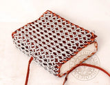 leather medieval diary with chainmail cover for geek gifts