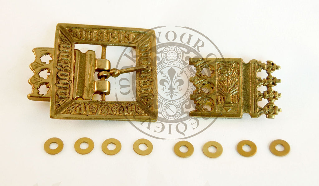 Eric of Pomerania Reproduction Medieval Belt Buckle and Strap-end Set - 25mm Strap Width
