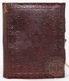 medieval flower cross leather journal or diary