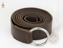 medieval ring belt in brown leather for SCA