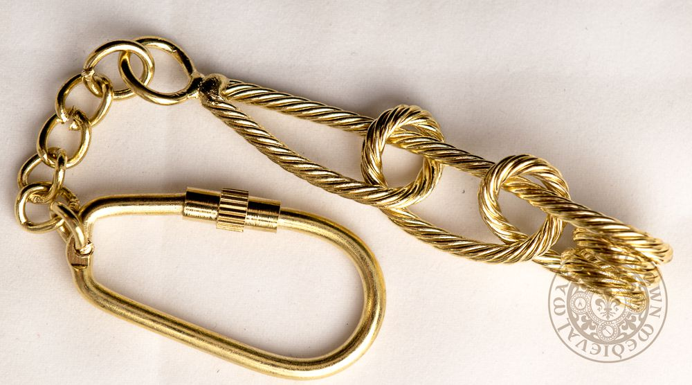 naval ships rope key chain made from brass