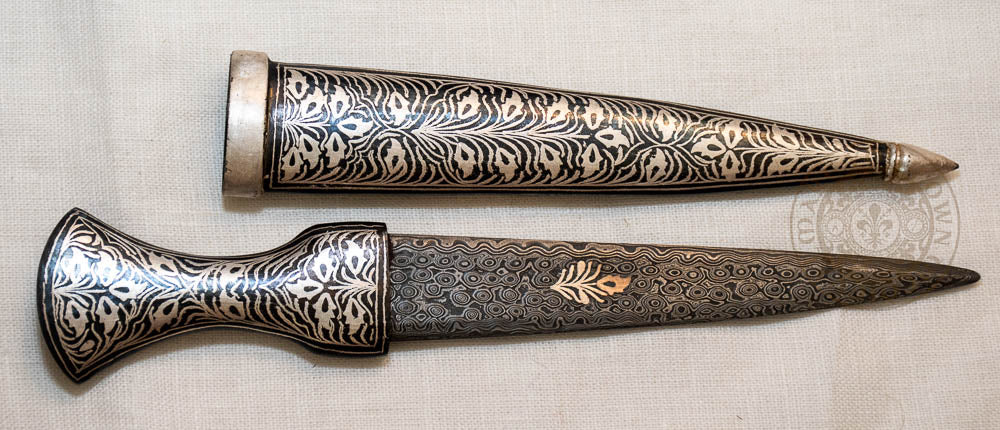Damascus Ottoman Knife and Scabbard- 15th Century