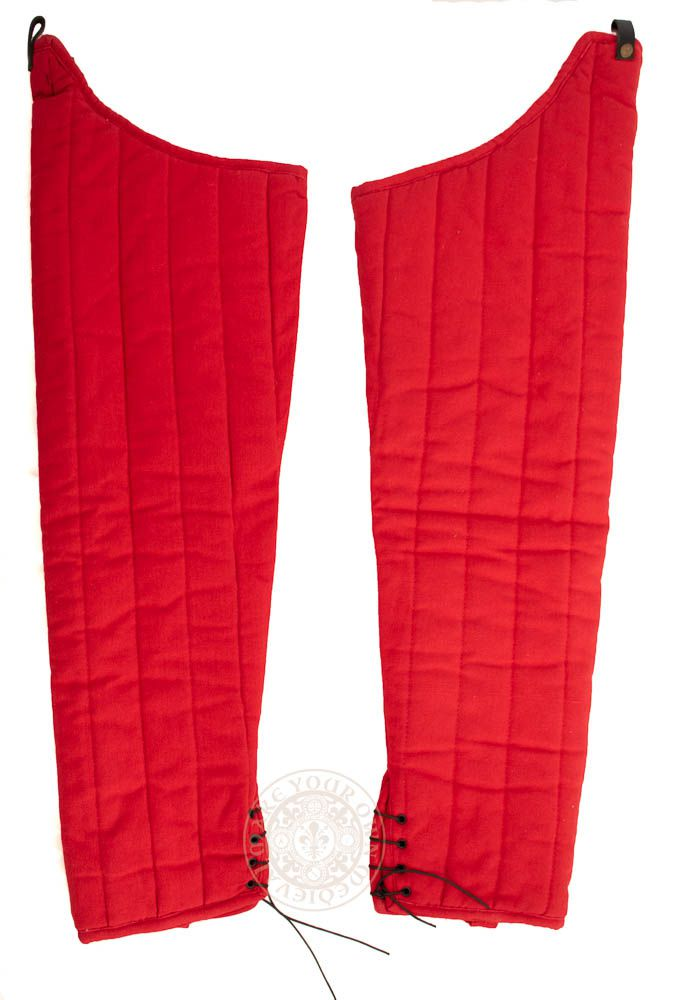padded HMB leg gambeson in red