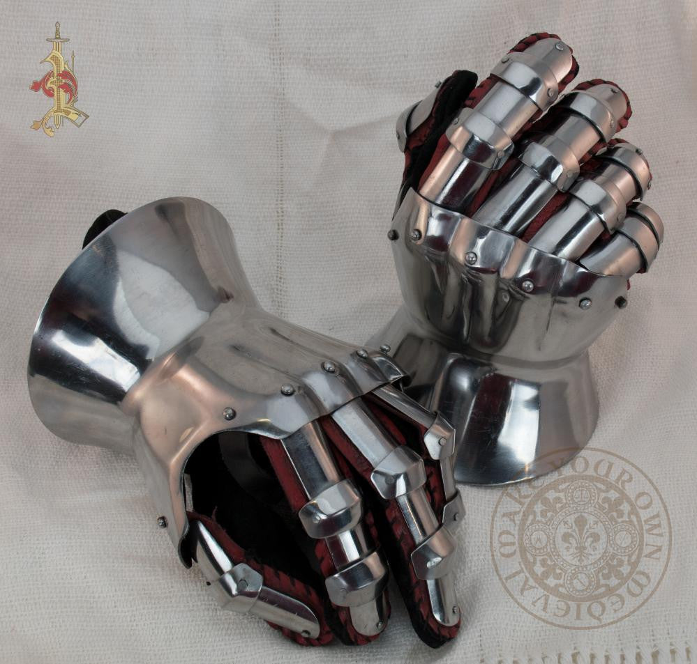 SCA Gauntlets Medieval  hourglass steel 14th century