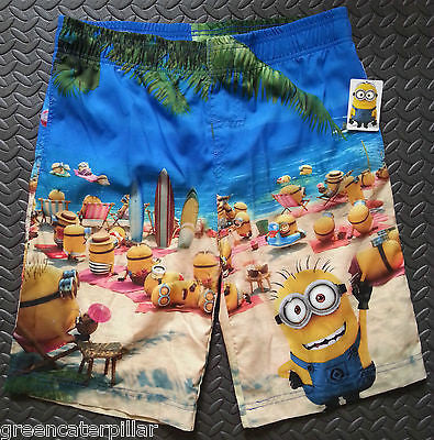 Mens Official MINIONS beach scene Swim Shorts from PRIMARK new - Click. Buy. Love. - 1