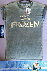 ADULT Ladies DISNEY FROZEN LOGO Foil Printed T shirt from PRIMARK - Click. Buy. Love. - 1