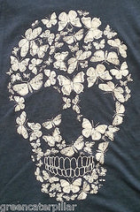 SKULL VEST PRIMARK T SHIRT BLUE WOMENS LADIES BUTTERFLY CANDYSKULL sizes 6 - 20 - Click. Buy. Love. - 2