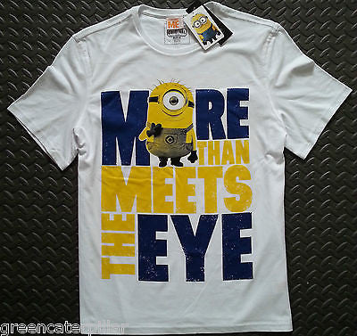 MINIONS T-Shirt More Than Meets The Eye DESPICABLE ME Mens XS-XXXL 100% COTTON - Click. Buy. Love. - 1