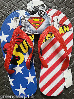 Primark Mens SUPERMAN Flip Flop Beach Sandals Thongs - Click. Buy. Love.
