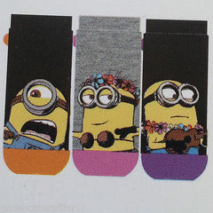 MINIONS PRIMARK DESPICABLE ME WOMEN'S SOCKS 3 PAIRS SIZES 4-8 EU37-42 Shoe Liner - Click. Buy. Love. - 2