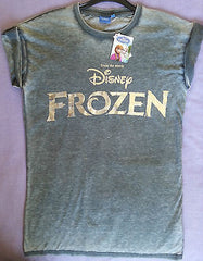 ADULT Ladies DISNEY FROZEN LOGO Foil Printed T shirt from PRIMARK - Click. Buy. Love. - 2