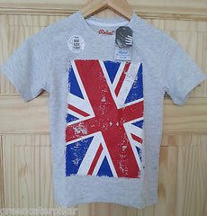 Boys British Flag Union Jack T-Shirt Grey PRIMARK new Mulitple Sizes 1 - 8 years - Click. Buy. Love. - 3