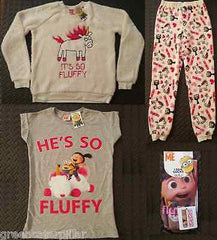 Primark Minions T-Shirt He's So Fluffy Jumper PJ Bottoms Socks Womens Ladies NEW - Click. Buy. Love. - 1