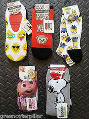 Primark SOCKS Minions Emoji Snoopy Emojicon Womens Ladies Girls sizes 4 - 8 new - Click. Buy. Love. - 1