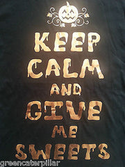 PRIMARK HALLOWEEN T SHIRT KEEP CALM AND GIVE ME SWEETS LADIES UK SIZES 6-20 NEW - Click. Buy. Love. - 2