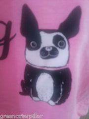 PRIMARK LADIES Life Is Better With A French Bulldog PJ vest T-Shirt  PINK 6 - 20 - Click. Buy. Love. - 3