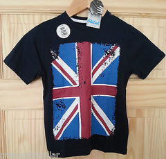 Boys British Flag Union Jack T-Shirt Navy Blue PRIMARK Mulitple Sizes 1-8 years - Click. Buy. Love. - 3